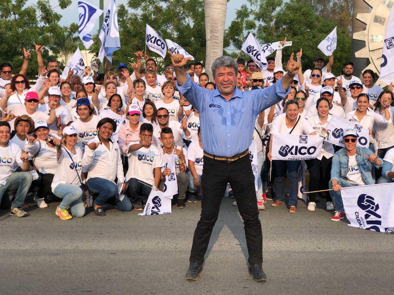 """En su primera semana de proselitismo, """"Xico"""" destaca el apoyo de los victorenses"""